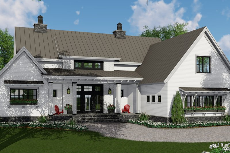Farmhouse Style House Plan 3 Beds 2 5 Baths 2125 Sq Ft