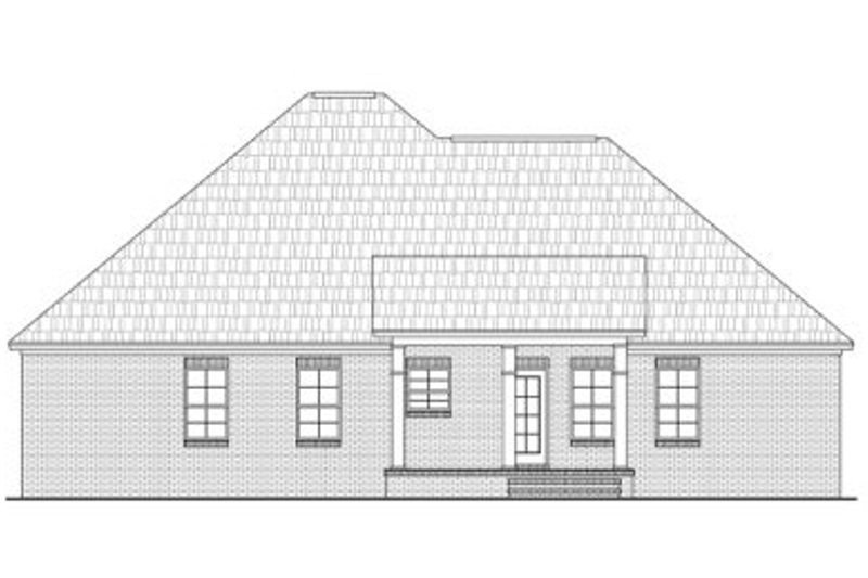 European Exterior - Rear Elevation Plan #21-214 - Houseplans.com