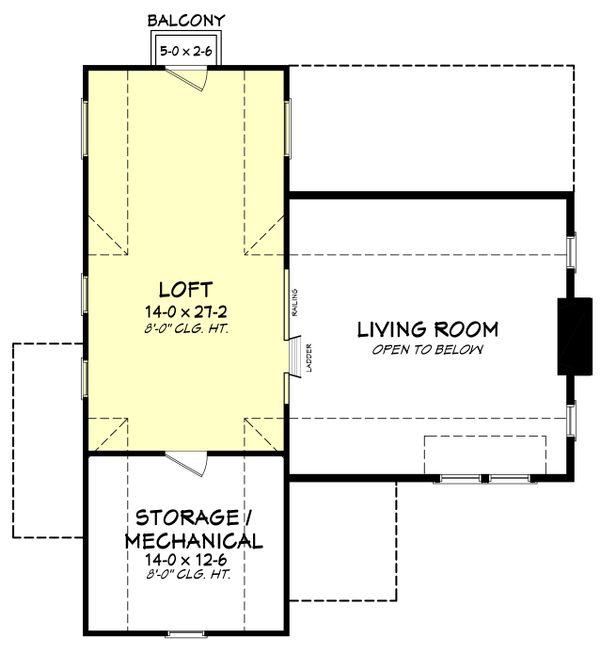 Farmhouse Floor Plan - Upper Floor Plan Plan #430-177