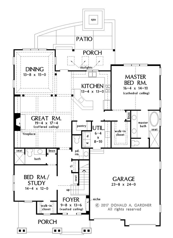 Farmhouse Floor Plan - Main Floor Plan Plan #929-1035