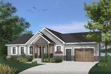 House Plan Design - Ranch Exterior - Front Elevation Plan #23-2652
