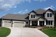 Craftsman Style House Plan - 4 Beds 2.5 Baths 2763 Sq/Ft Plan #51-430 Exterior - Other Elevation