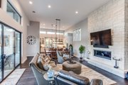 Contemporary Style House Plan - 4 Beds 4 Baths 3349 Sq/Ft Plan #935-14 Interior - Family Room
