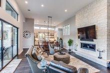 Architectural House Design - Contemporary Interior - Family Room Plan #935-14
