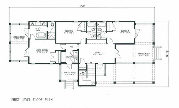 Beach Floor Plan - Main Floor Plan Plan #443-6