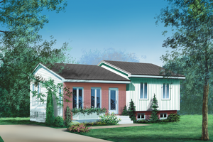 Ranch Exterior - Front Elevation Plan #25-1123