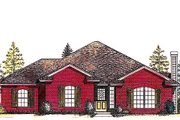 Traditional Style House Plan - 3 Beds 2 Baths 1514 Sq/Ft Plan #310-809 Exterior - Front Elevation