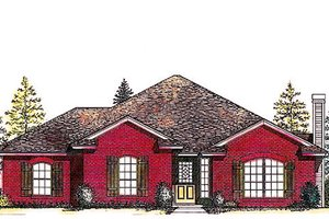 Traditional Exterior - Front Elevation Plan #310-809