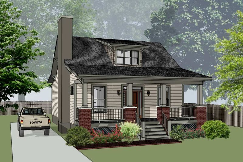 Bungalow Style House Plan - 3 Beds 2.5 Baths 1394 Sq/Ft Plan #79-326