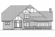Craftsman Style House Plan - 4 Beds 3 Baths 3467 Sq/Ft Plan #413-106 Exterior - Rear Elevation