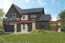 Dream House Plan - Modern Exterior - Front Elevation Plan #23-2308