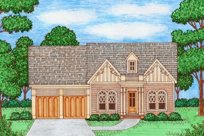 Victorian Style House Plan - 3 Beds 2 Baths 1984 Sq/Ft Plan #413-868 Exterior - Front Elevation
