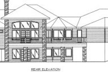 Modern Exterior - Rear Elevation Plan #117-425