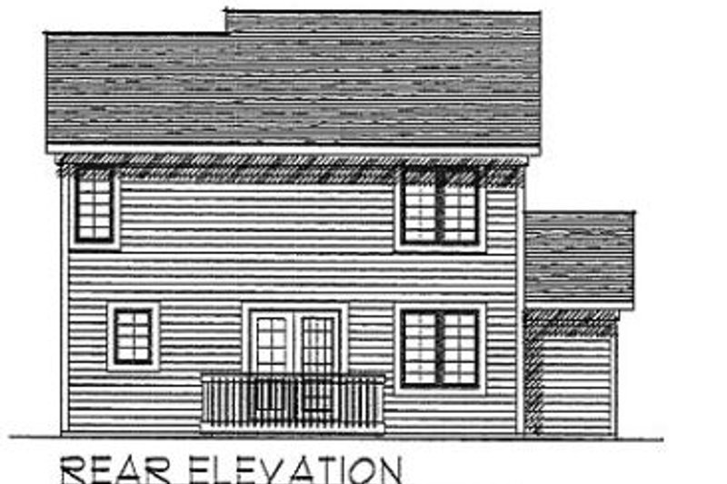Traditional Exterior - Rear Elevation Plan #70-152 - Houseplans.com