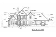 Home Plan - Mediterranean Exterior - Rear Elevation Plan #20-256
