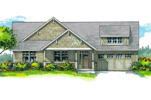 Craftsman Exterior - Front Elevation Plan #53-464