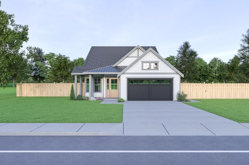 Craftsman Style House Plan - 3 Beds 2 Baths 1611 Sq/Ft Plan #1070-89 Exterior - Front Elevation