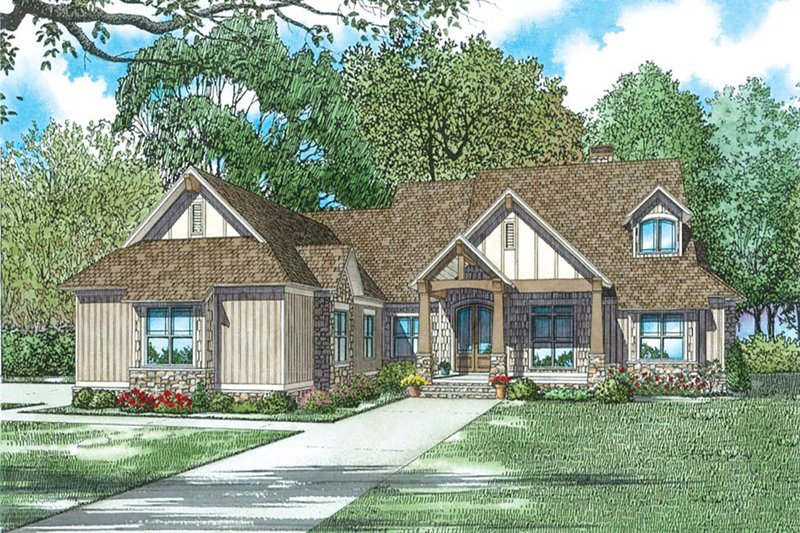 Country Exterior - Front Elevation Plan #17-2596