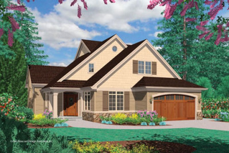 Dream House Plan - Traditional Exterior - Front Elevation Plan #48-395