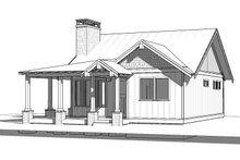 Cabin Exterior - Front Elevation Plan #895-91