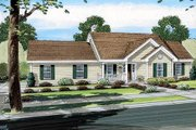 Cottage Style House Plan - 3 Beds 2 Baths 1400 Sq/Ft Plan #312-734 Exterior - Front Elevation
