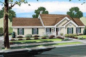 Cottage Exterior - Front Elevation Plan #312-734