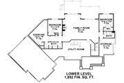 Craftsman Style House Plan - 5 Beds 4.5 Baths 4773 Sq/Ft Plan #51-334 Floor Plan - Lower Floor Plan