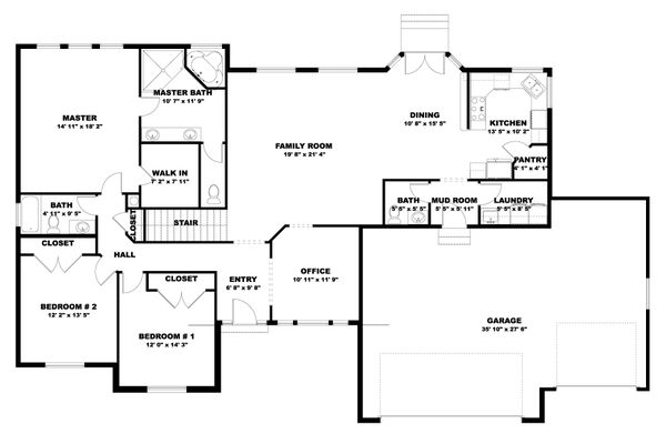 Traditional Floor Plan - Main Floor Plan #1060-100