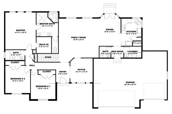 Home Plan - Traditional Floor Plan - Main Floor Plan #1060-100