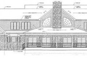 Country Style House Plan - 4 Beds 4 Baths 4929 Sq/Ft Plan #12-203 Exterior - Rear Elevation
