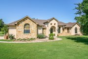 Mediterranean Style House Plan - 3 Beds 3 Baths 2238 Sq/Ft Plan #80-151 Exterior - Front Elevation