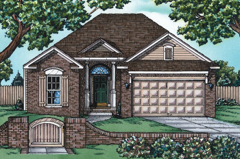 House Design - Traditional Exterior - Front Elevation Plan #20-408