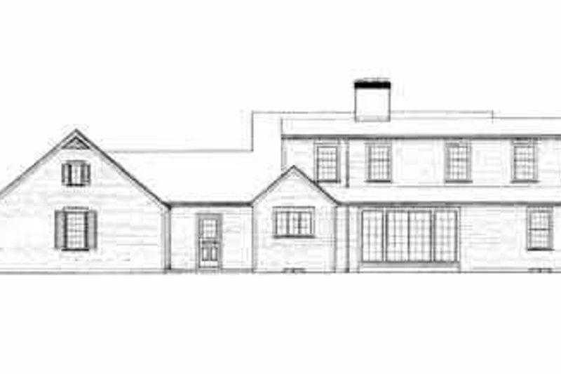 Colonial Exterior - Rear Elevation Plan #72-349 - Houseplans.com