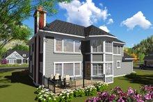 Craftsman Exterior - Rear Elevation Plan #70-1253