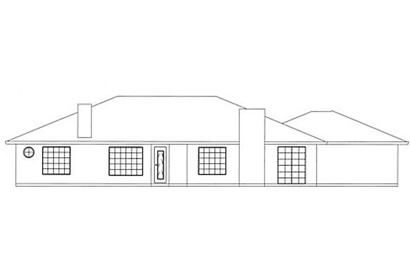 Traditional Exterior - Rear Elevation Plan #437-16 - Houseplans.com