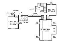Farmhouse Floor Plan - Upper Floor Plan Plan #929-1111