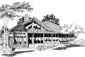 Contemporary Exterior - Front Elevation Plan #320-105