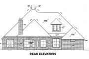 European Style House Plan - 3 Beds 4 Baths 2870 Sq/Ft Plan #310-641 Exterior - Rear Elevation