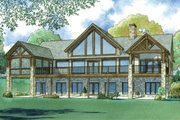 Ranch Style House Plan - 3 Beds 3.5 Baths 3415 Sq/Ft Plan #923-88 Exterior - Rear Elevation