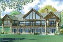 Ranch Exterior - Rear Elevation Plan #923-88