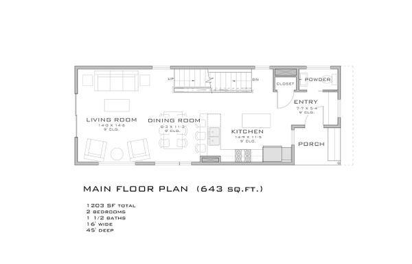 Modern Floor Plan - Main Floor Plan Plan #909-3