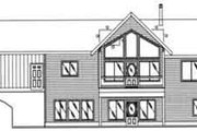Traditional Style House Plan - 3 Beds 2.5 Baths 2542 Sq/Ft Plan #117-281 Exterior - Rear Elevation
