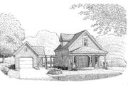 Country Style House Plan - 2 Beds 1.5 Baths 985 Sq/Ft Plan #410-172