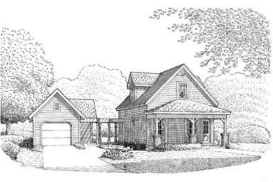 Country Exterior - Front Elevation Plan #410-172