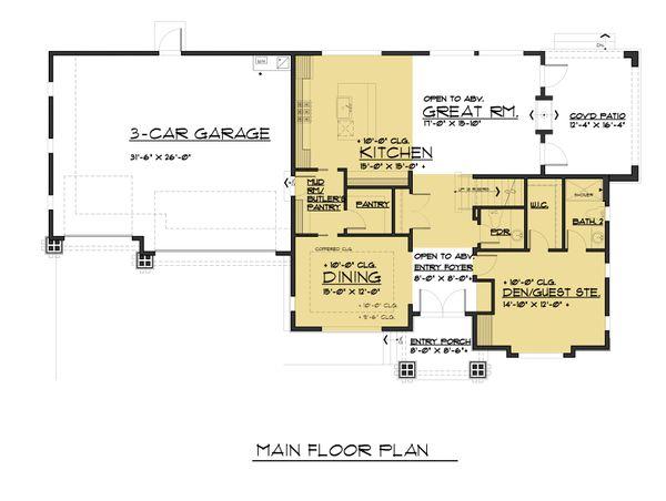 Traditional Floor Plan - Main Floor Plan #1066-75