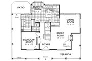 Traditional Style House Plan - 4 Beds 2.5 Baths 1779 Sq/Ft Plan #18-285 Floor Plan - Main Floor