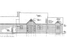 Colonial Exterior - Rear Elevation Plan #3-239