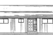 Cottage Style House Plan - 2 Beds 1 Baths 884 Sq/Ft Plan #126-110 Exterior - Rear Elevation