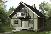 Cottage Style House Plan - 4 Beds 2 Baths 1280 Sq/Ft Plan #57-480 Exterior - Front Elevation