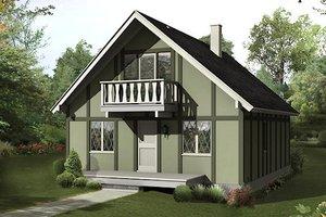 Cottage Exterior - Front Elevation Plan #57-480